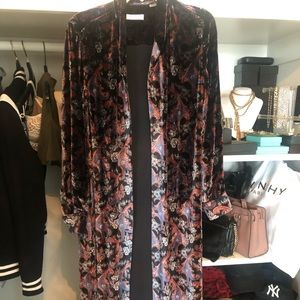 NWOT Equipment velvet brocade print maxi dress